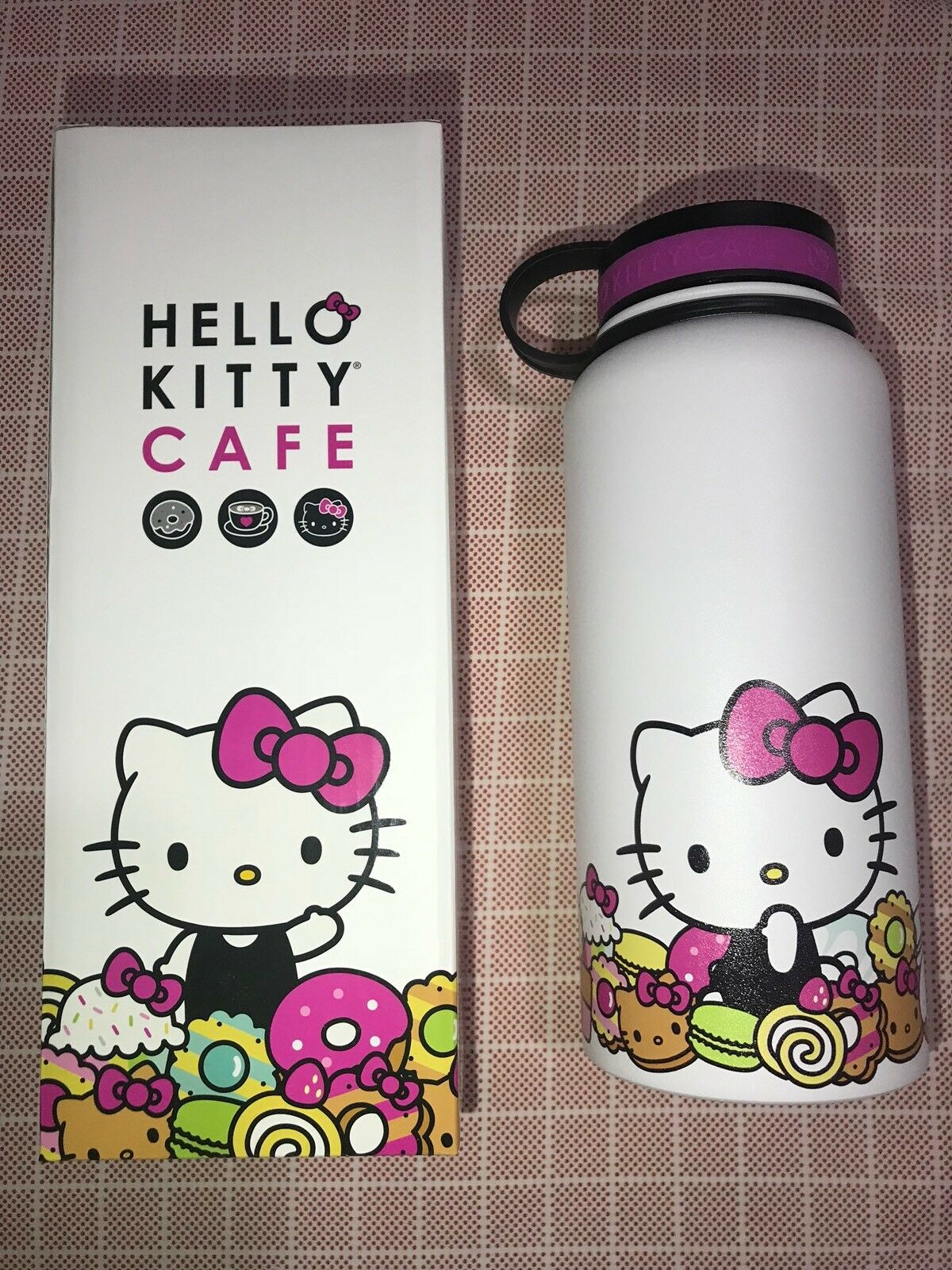 New Hello Kitty Cafe Limited Edition Thermal Thermos Water Bottle Bott Funko Pop Doraemon 1 Of 2 See More