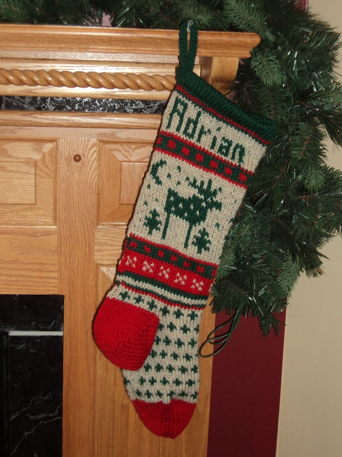 1 of 1only 1 available - Moose Christmas Stocking