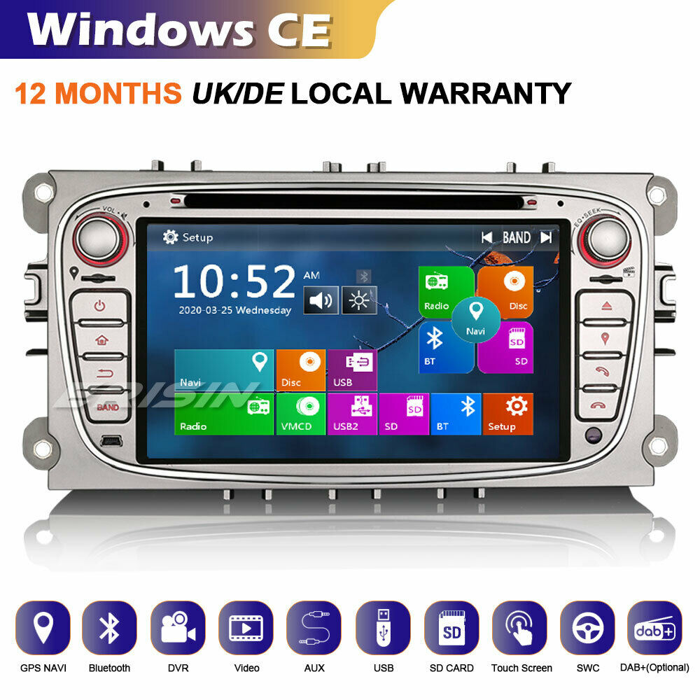 autorradio gps radio dab ford focus c s max mondeo galaxy. Black Bedroom Furniture Sets. Home Design Ideas