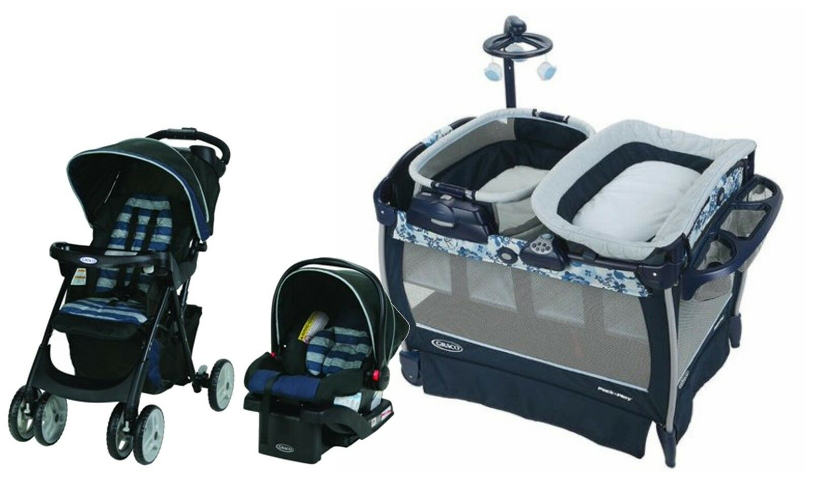 Graco Baby Stroller Car Seat Travel Set Newborn Portable Playard Folding Crib 1 Of 12Only 2 Available