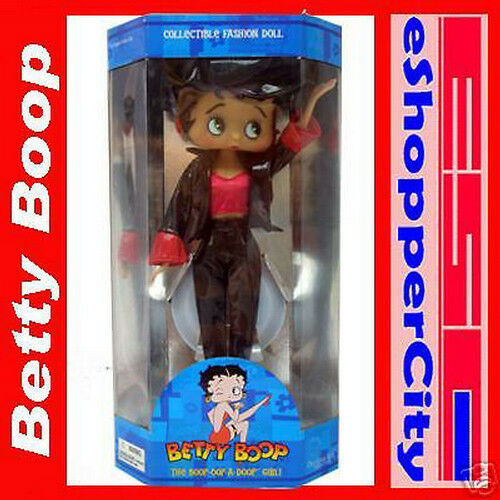 """Betty Boop Red Hat Girl Girl 12/"""" New Part Girl Bendbale Doll w// doll Stand Party"""