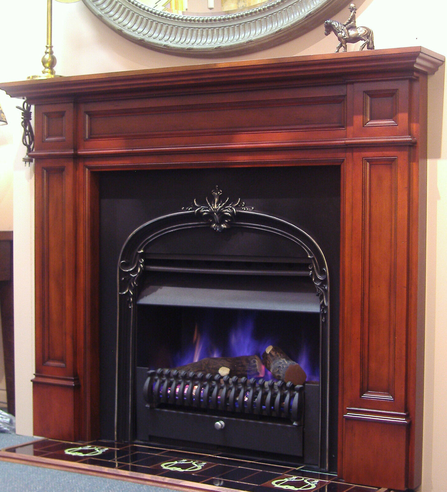Fireplace surround parliament timber mantlepiece fire mantel piece antique aud - Fireplace mantel piece ...