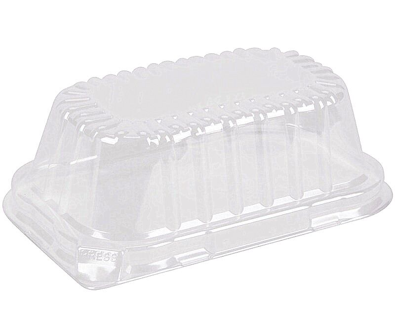 Clear Dome Lid For 1 lb. Aluminum Foil Loaf Pan 500's