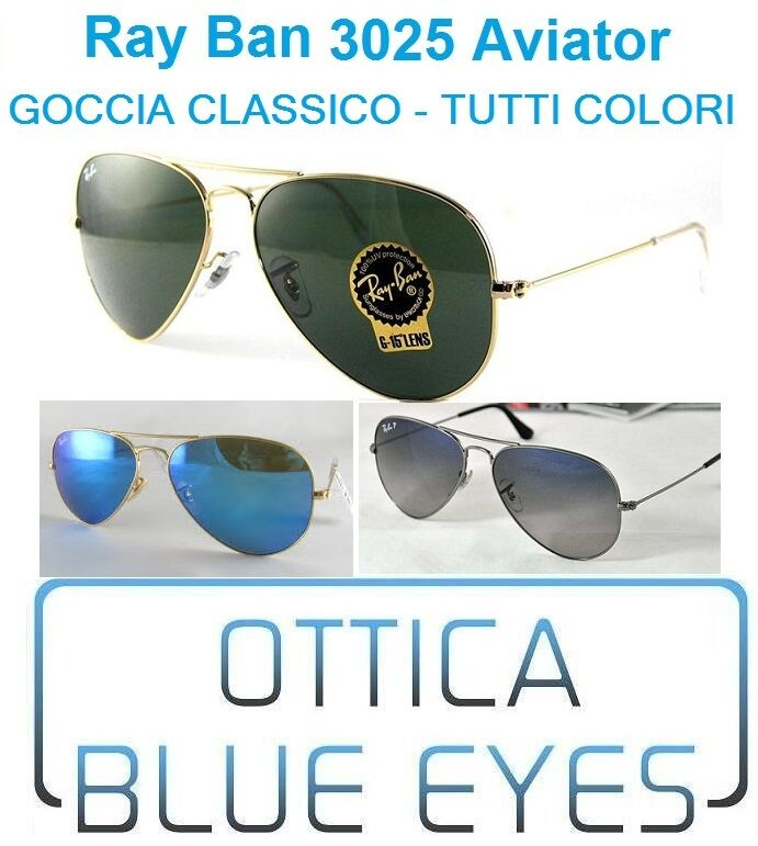 Occhiali Sole RAYBAN AVIATOR LARG METAL RB 3025 Ray Ban ALL COLORS Free Shipping