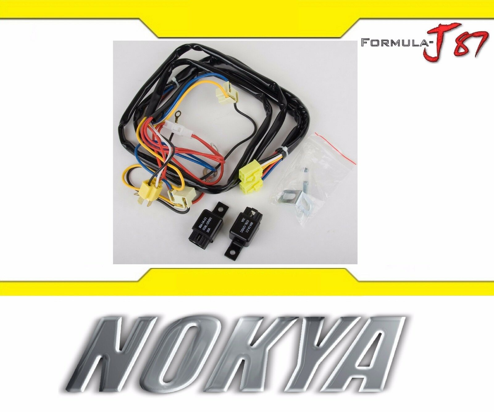 Nokya Relay Wire Harness 9003 Hb2 H4 Nok9201 Head Light Bulb Dual High Low Beam 1 Of 7free Shipping