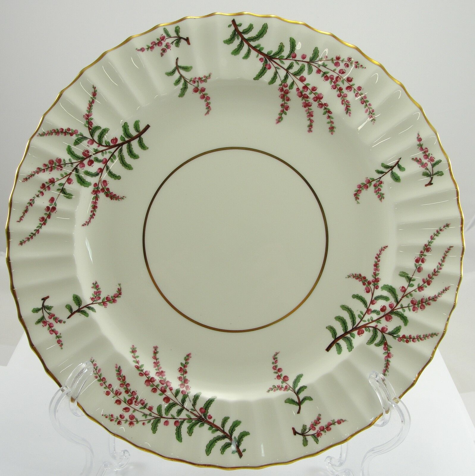 Royal Worcester Dunrobin Bone China  England Round Dinner Plate 10-1/2 Inches