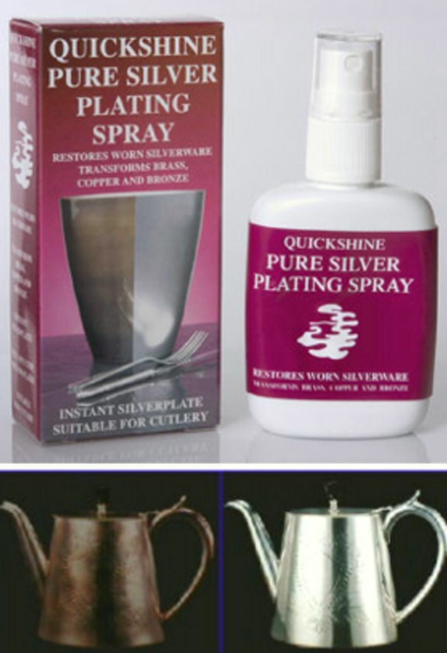 Quickshine Pure Silver Plating Sray Silver Plate Grandfather Clock Parts Quickly
