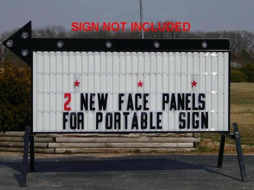 New 4' X 8' Changeable Flexible Letter Outdoor Marquee Readerboard Sign Faces