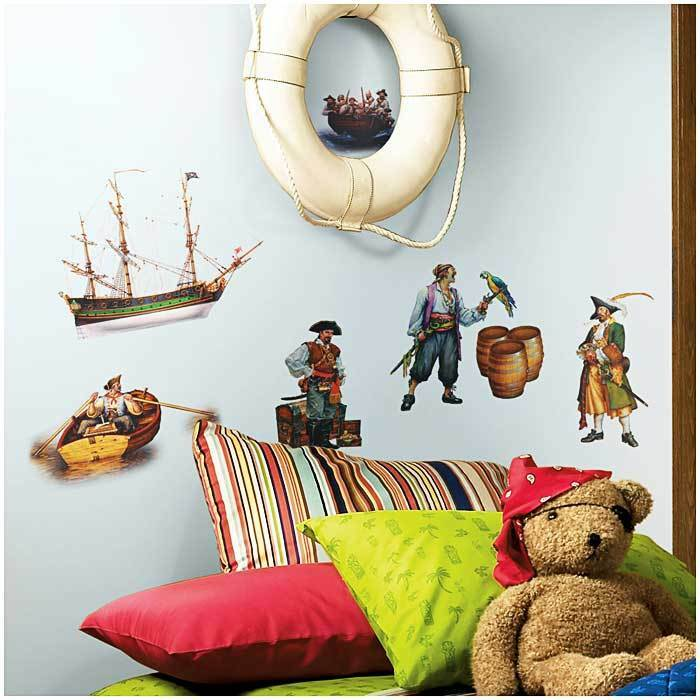 17 wandsticker wandtattoo piraten jungen kinderzimmer wanddeko schatz schiff eur 19 99. Black Bedroom Furniture Sets. Home Design Ideas
