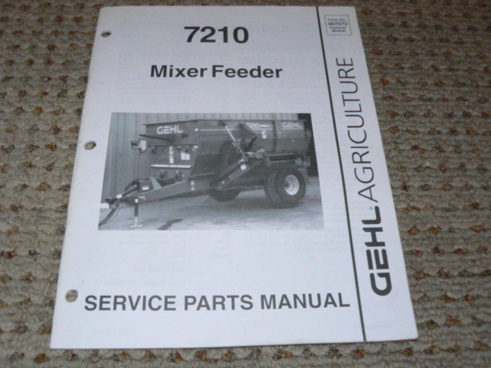 Gehl 7190 Feeder Wagon Dealer's Parts Book 1 of 1Only 1 available ...