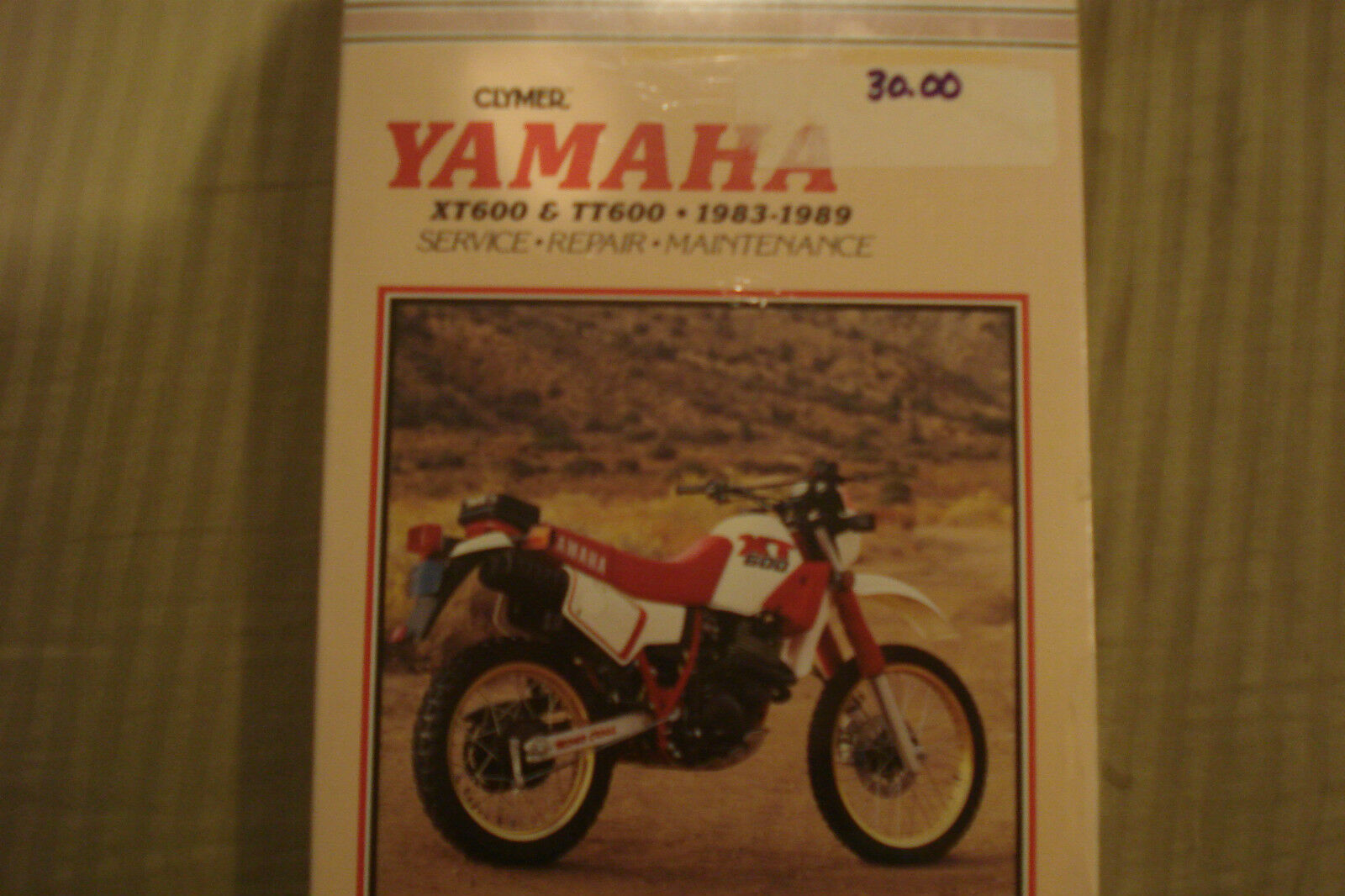 Clymer Yamaha XT600 & TT600 1983-1989 Service Repair Maintenance Manual  M416 1 of 1Only 1 available ...