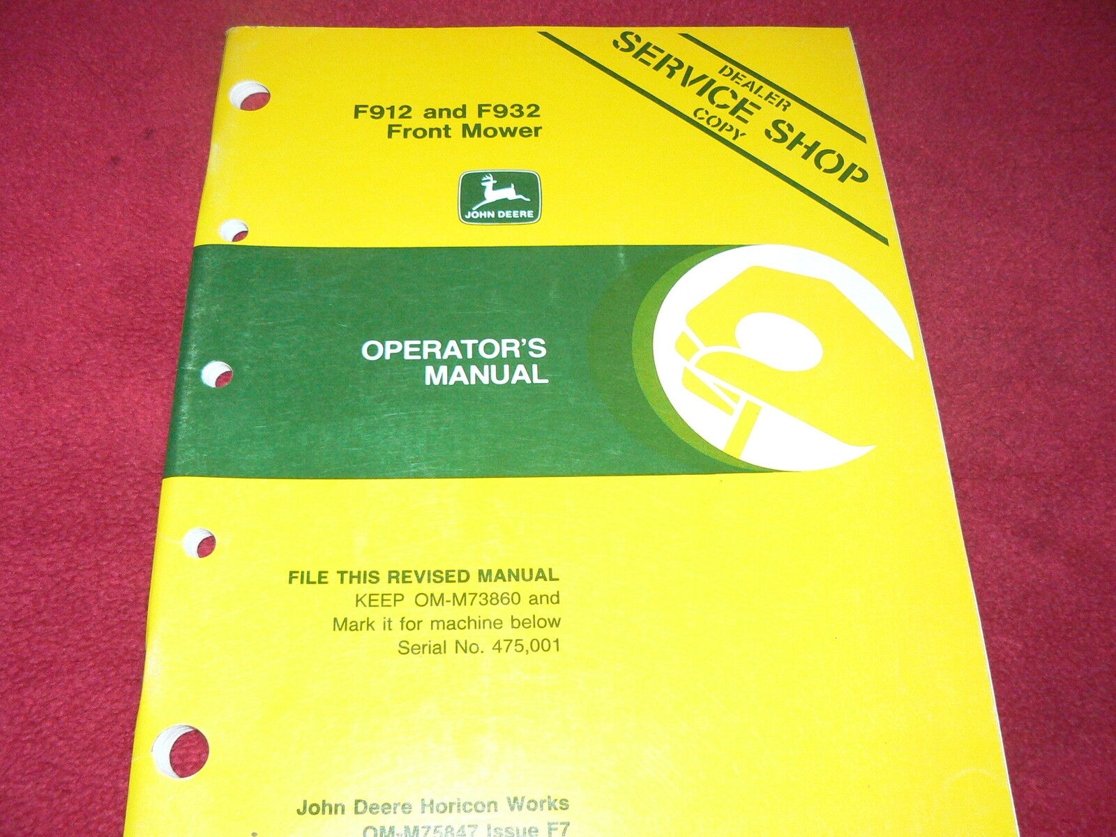John Deere F912 and F932 Front Mower Operator's Manual 1 of 1Only 2  available ...