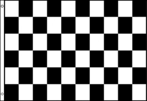 2 x3 checkered black and white flag finish line car racing