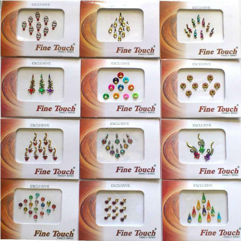 Bindis Bollywood Stirnschmuck Tikka Body Sticker Schmuck Fasching Karneval