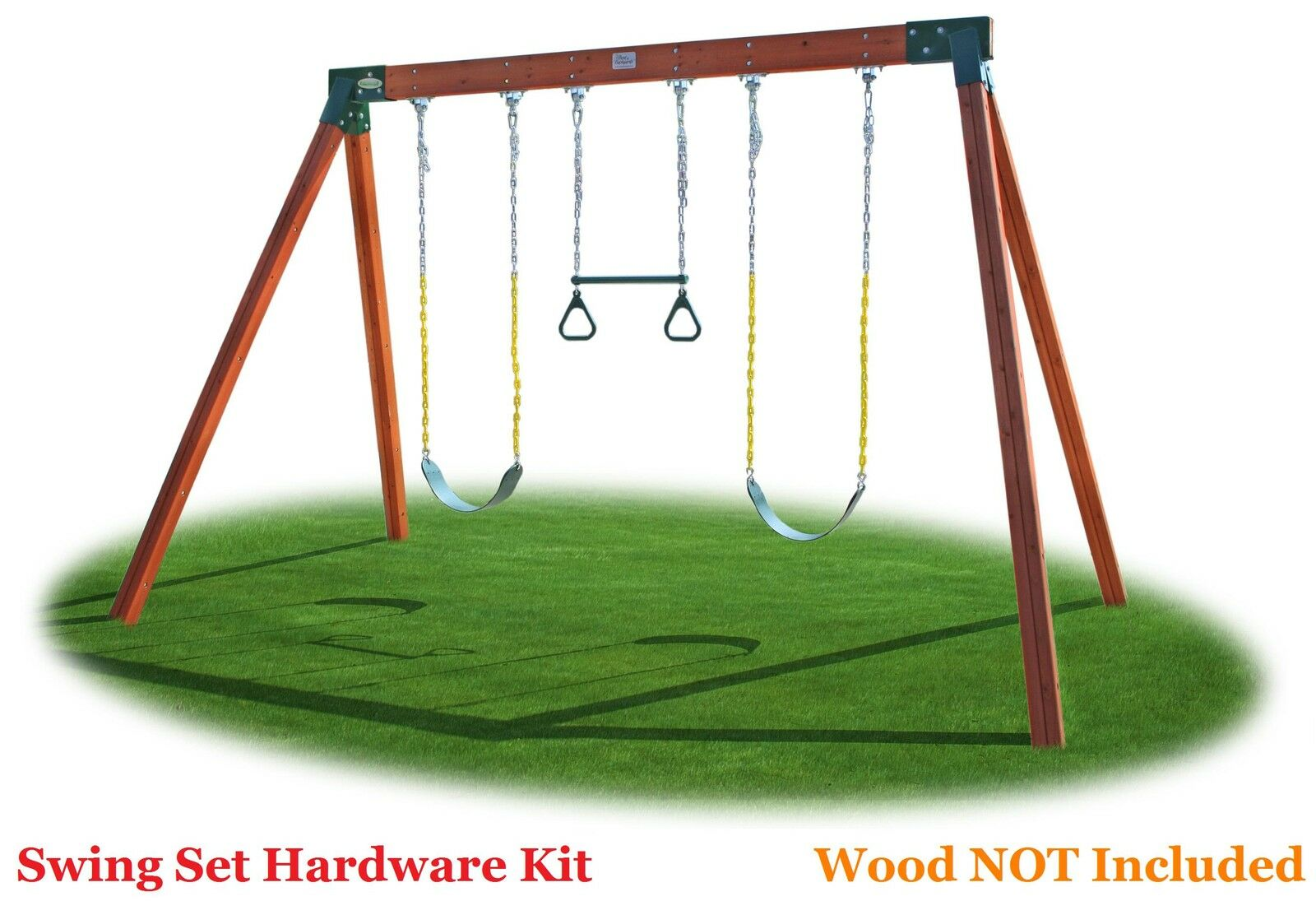 Classic a frame do it yourself free standing swing set for Do it yourself swing