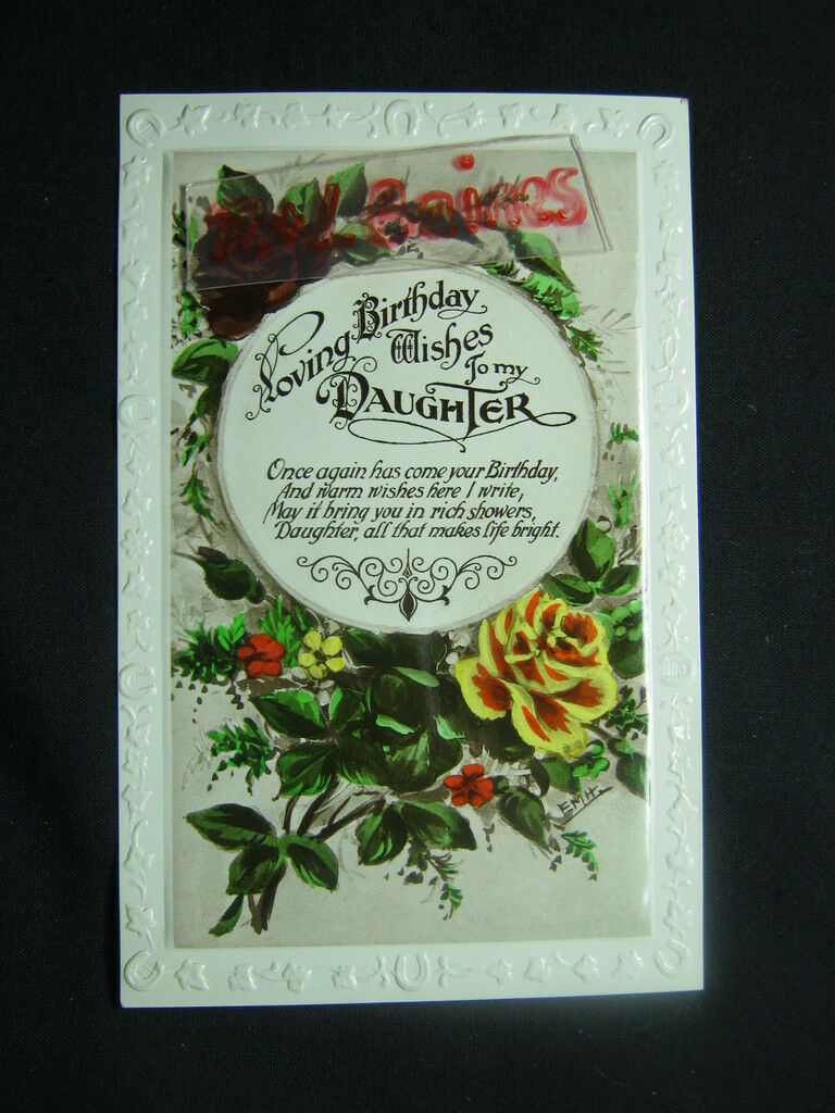 Loving Birthday Wishes To My Daughter Flowers Greeting Postcard R