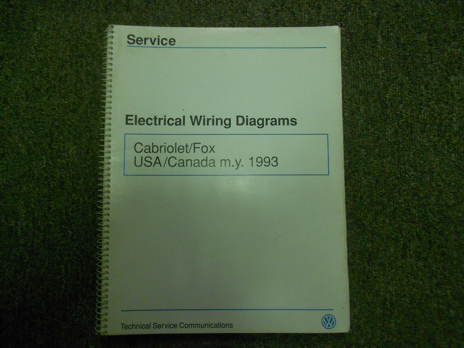 1 of 12Only 1 available 1993 VW Cabriolet Fox Electrical Wiring Diagram  Shop Manual ...