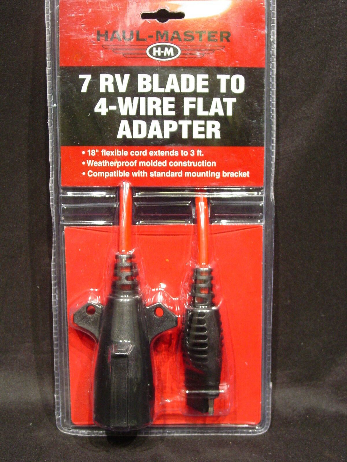 Trailer Wiring Adapter 7 Rv Blade Round To 4 Wire Flat 3 Extension Hopkins Adapters Cord Towing 1 Of 12free Shipping