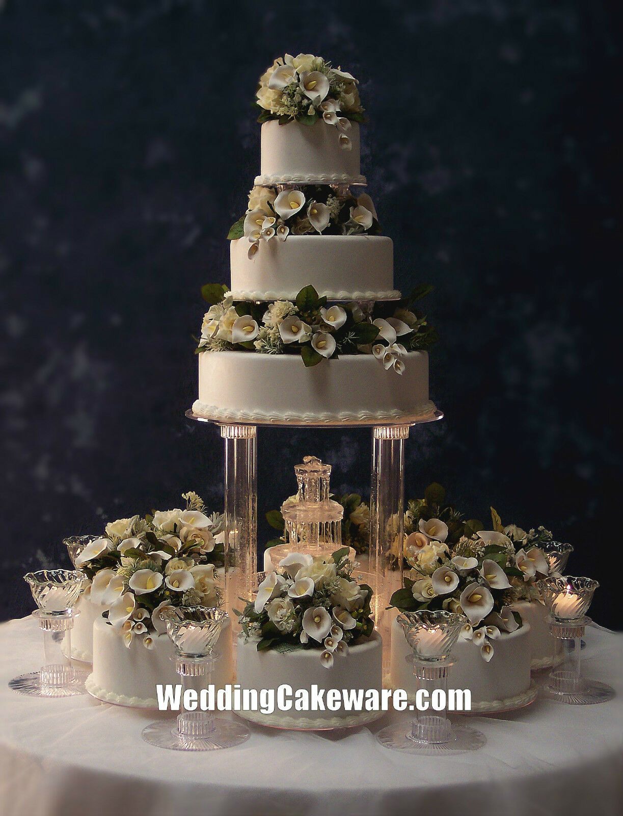 Cake Stand With Fountain Set
