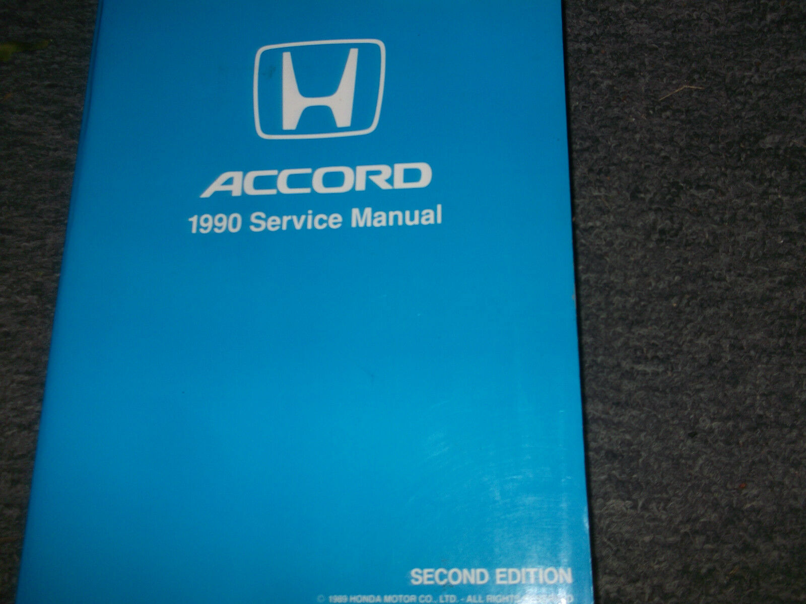 1990 HONDA ACCORD Service Shop Workshop Repair Manual NEW Factory 1 Of  3Only 1 Available ...