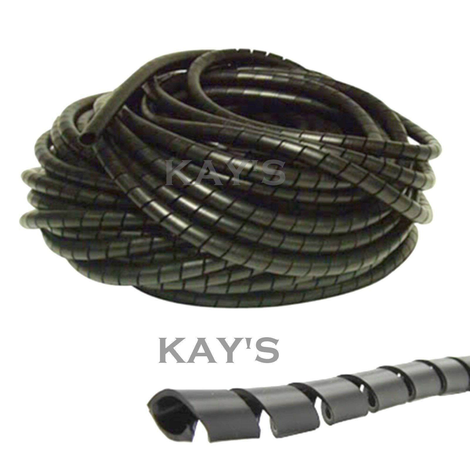 SPIRAL CABLE WRAP Tidy Hide Banding Loom ~ Pc,tv,home Cinema,wire ...