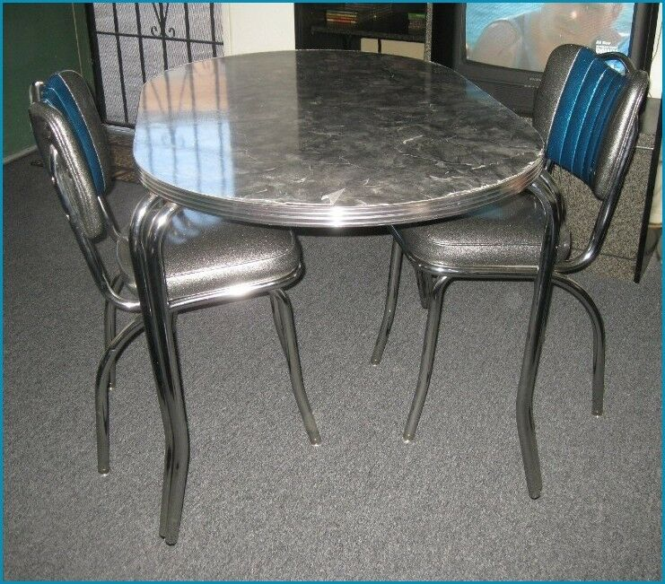 NEW 50 39 S RETRO DINER CHROME FORMICA DINING DINETTE SET HEAVY DUTY VINTAGE