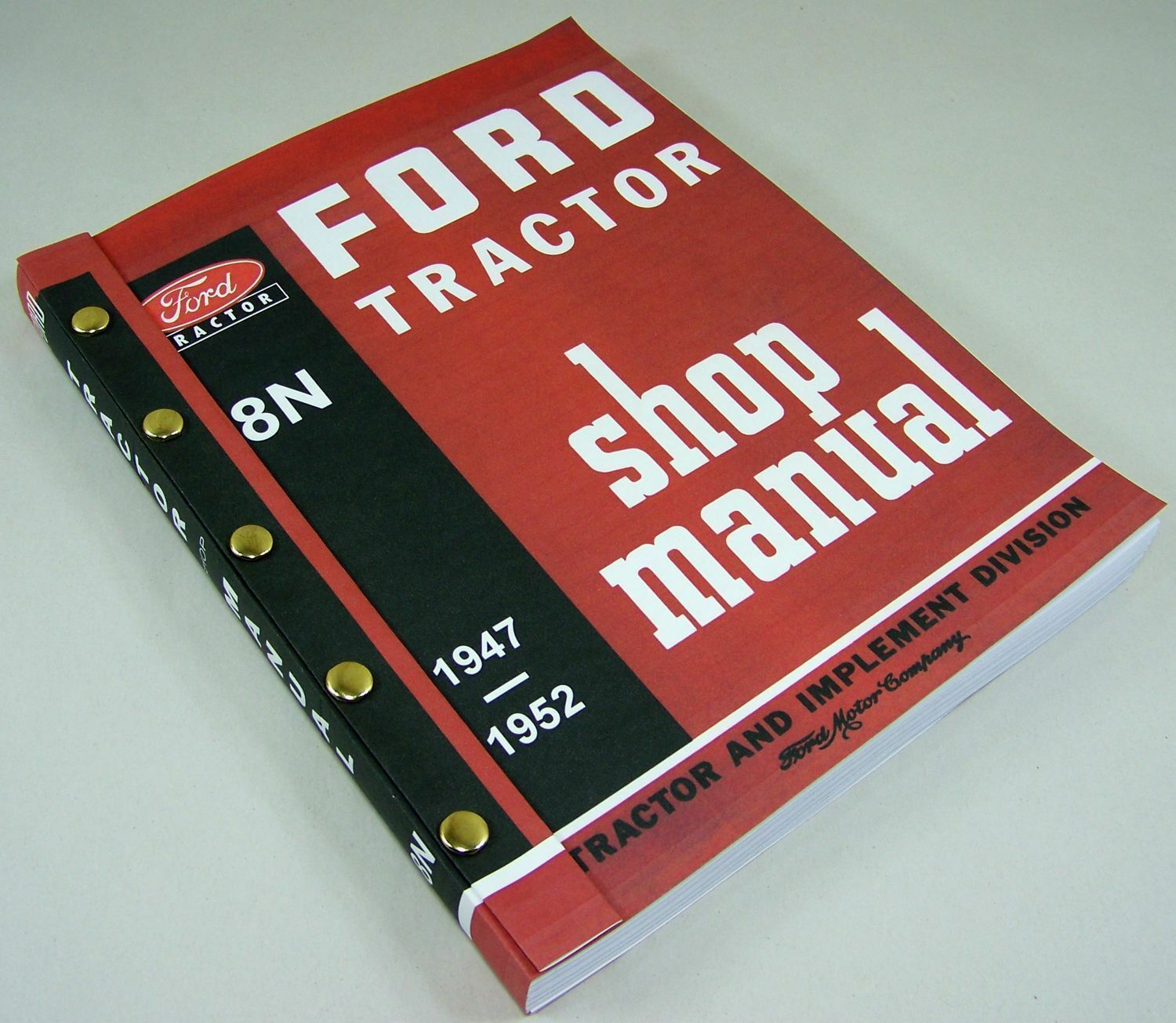 Ford 8N Tractor Shop Manual Service Technical Repair New Print 2N 9N  Compatible 1 of 9FREE Shipping ...