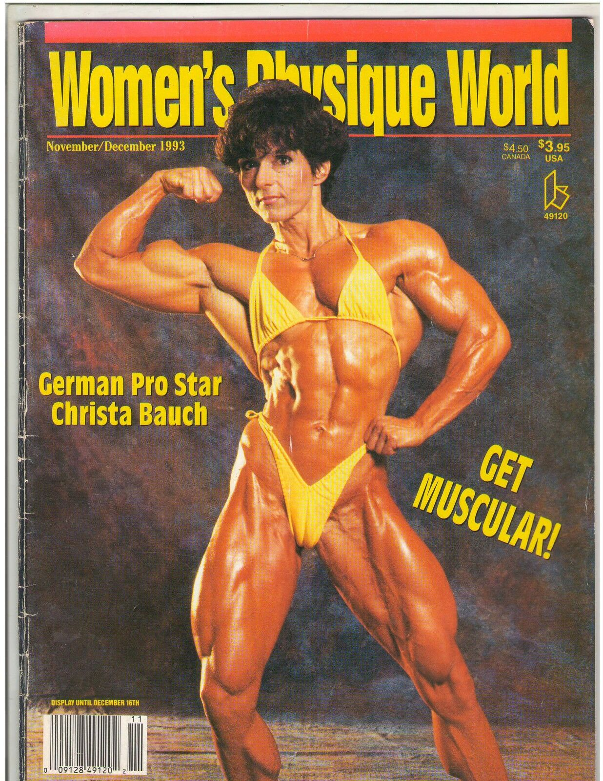 Women's Physique World Female Bodybuilding Mary Lynne McKenzie /Chris Roth 8-03