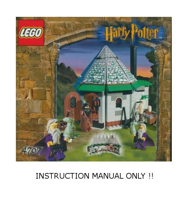Lego 4707 Harry Potter Hagrids Hut Instruction Manual Only