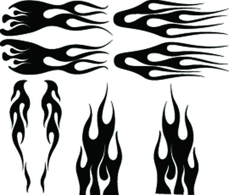 Home Crafts Art Supplies AirbrushingFlame Stencils For Airbrush