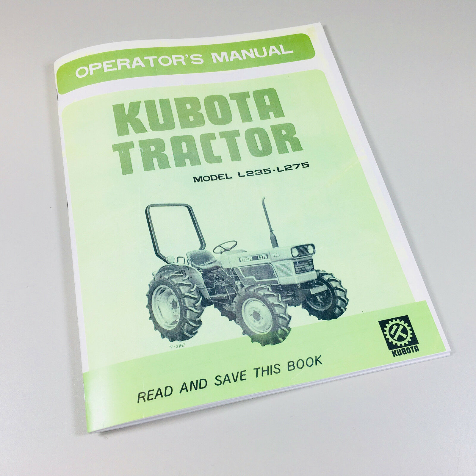 Kubota L235 L275 Tractors Operators Owners Manual 2Wd 4Wd Diesel Maintenance  1 of 7FREE Shipping ...