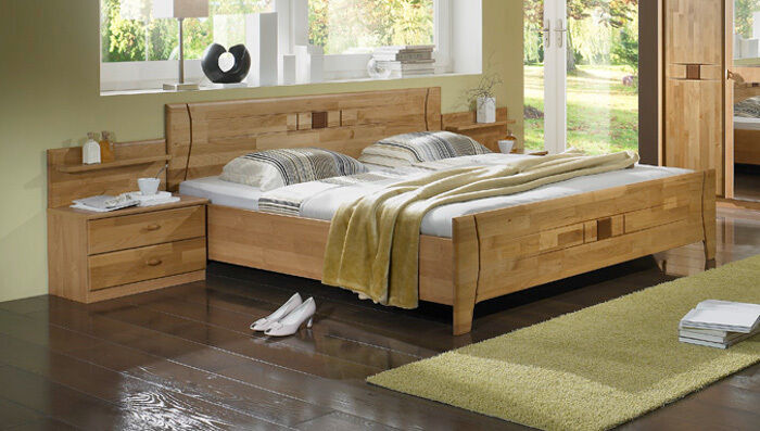 doppelbett bett massivholz erle massiv 200x200 cm ehebett luxor eur 319 00 picclick de. Black Bedroom Furniture Sets. Home Design Ideas