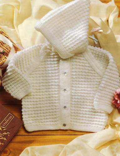 Knitting Patterns For Baby Jacket With Hood : Baby Knitting pattern- hooded Jacket size 18-22 inches   ?1.79 - PicClick UK