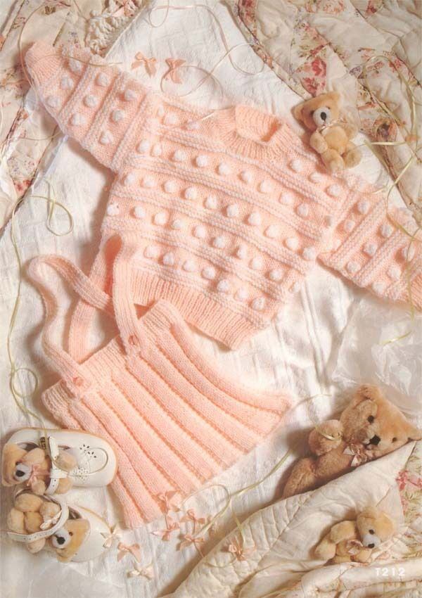 Baby Girl Sweater Patterns Knitting : Baby girl Bobble sweater and skirt Knitting pattern . To Knit in DK wool   ?1...