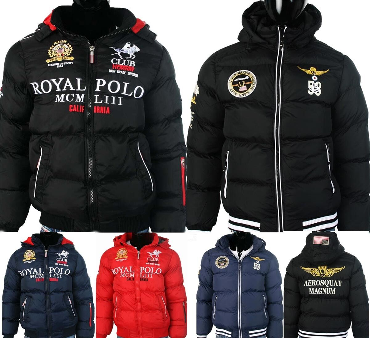 geographical norway herren winterjacke steppjacke polo daunen style jacke s xxl eur 49 90. Black Bedroom Furniture Sets. Home Design Ideas