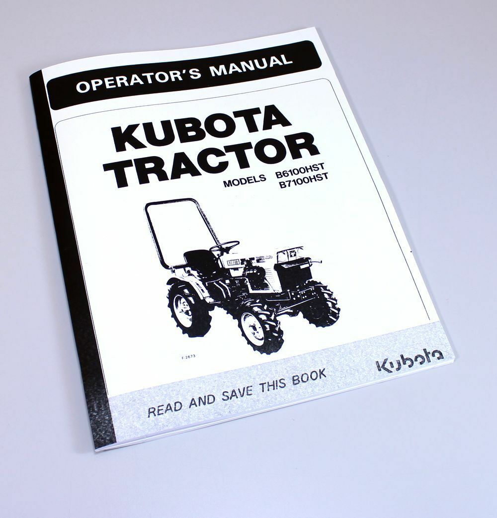 Kubota B6100Hst B7100Hst Tractors Operators Owners Manual Diesel 4Wd 2Wd 1  of 6FREE Shipping ...
