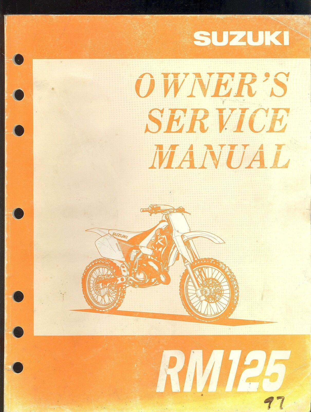 1997 Suzuki Rm125 Motorcycle Owner`s Service Manual 1 of 1Only 2 available  ...