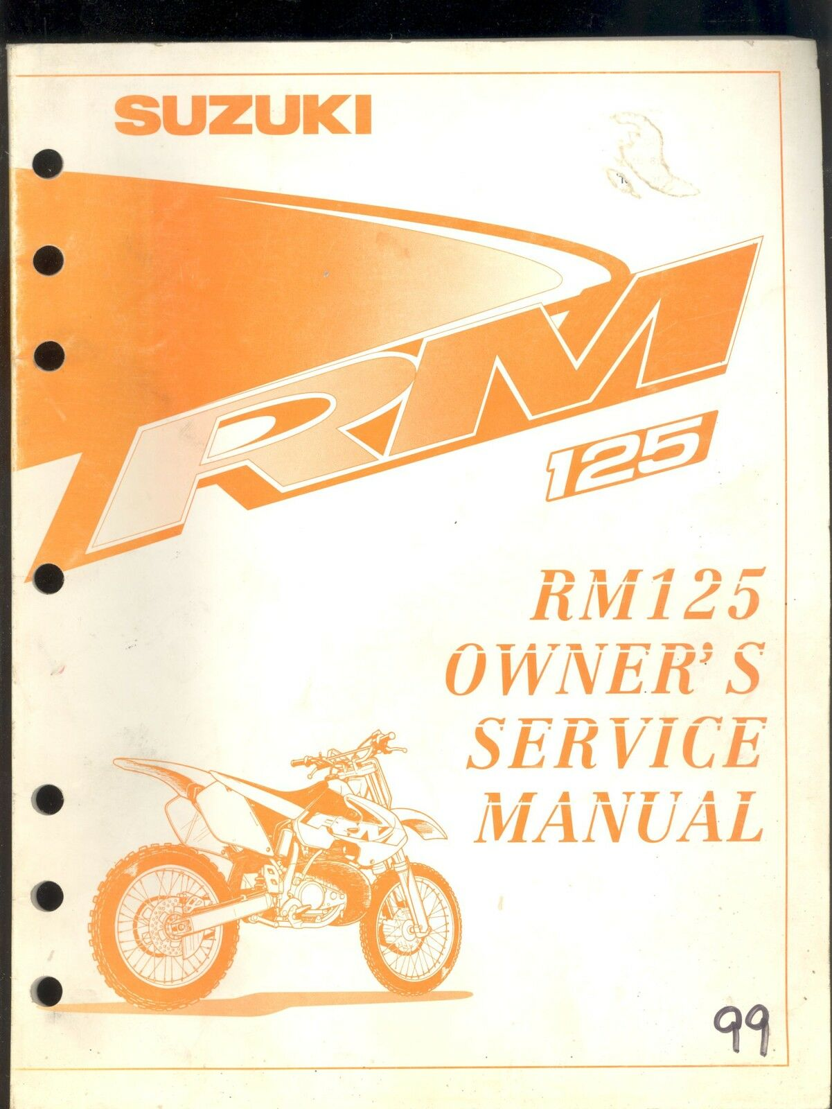 1999 Suzuki Rm125 Motorcycle Owner`s Service Manual 1 of 1Only 1 available  ...