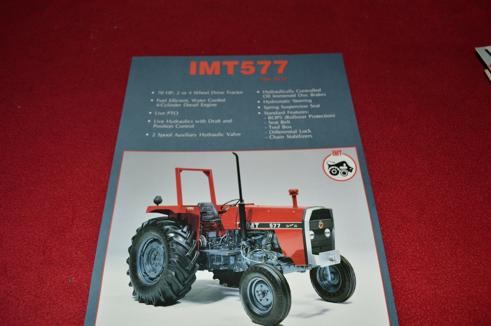 Imt 542 Tractor Manual Panel Fuse Box And Wiring Harness Motor Grader Caterpillar 12f Array 577 De Luxe Dealers Brochure Lcoh 14 99 Picclick Rh Com