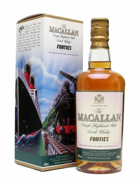 Macallan Forties Travel Series Single Malt Scotch Whisky 500ml