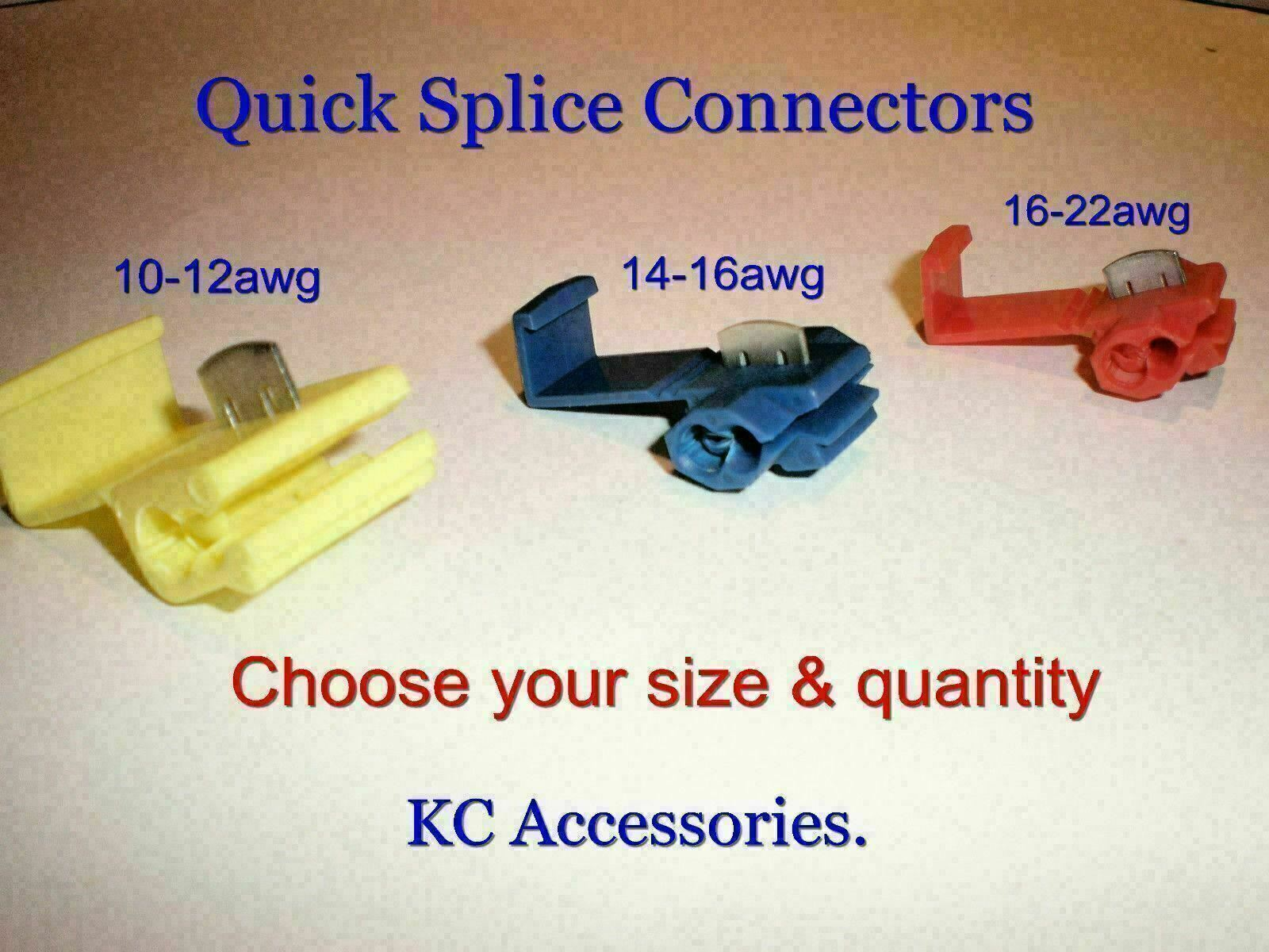 Quick Splice Scotch Lock Wire Connectors Terminals Crimp Electrical Wiring Connector 1 Of 1free Shipping