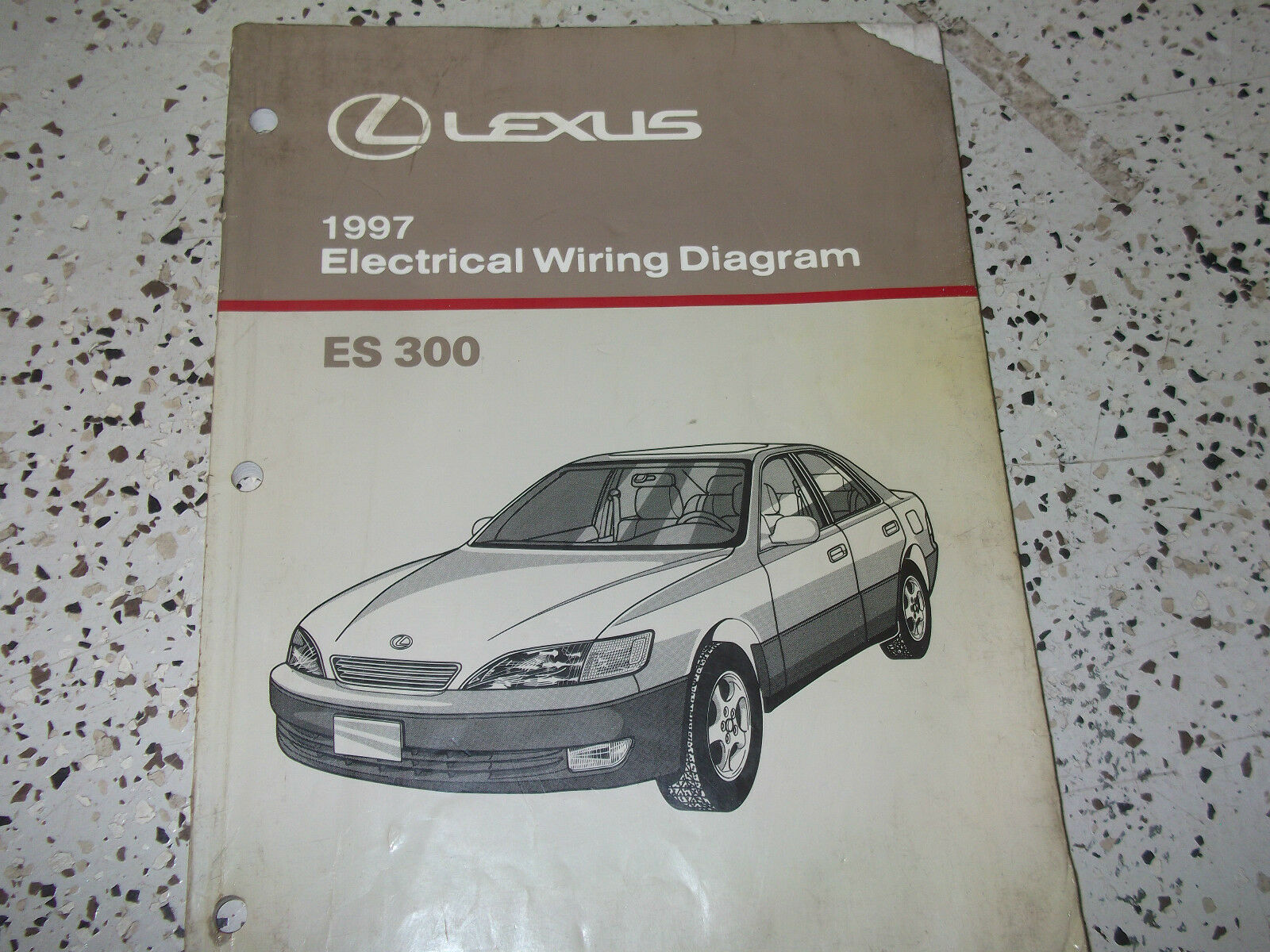 1997 Lexus Es300 Es 300 Electrical Wiring Diagram Service Shop Gs300 Repair Manual Ewd 1 Of 3only 2 Available