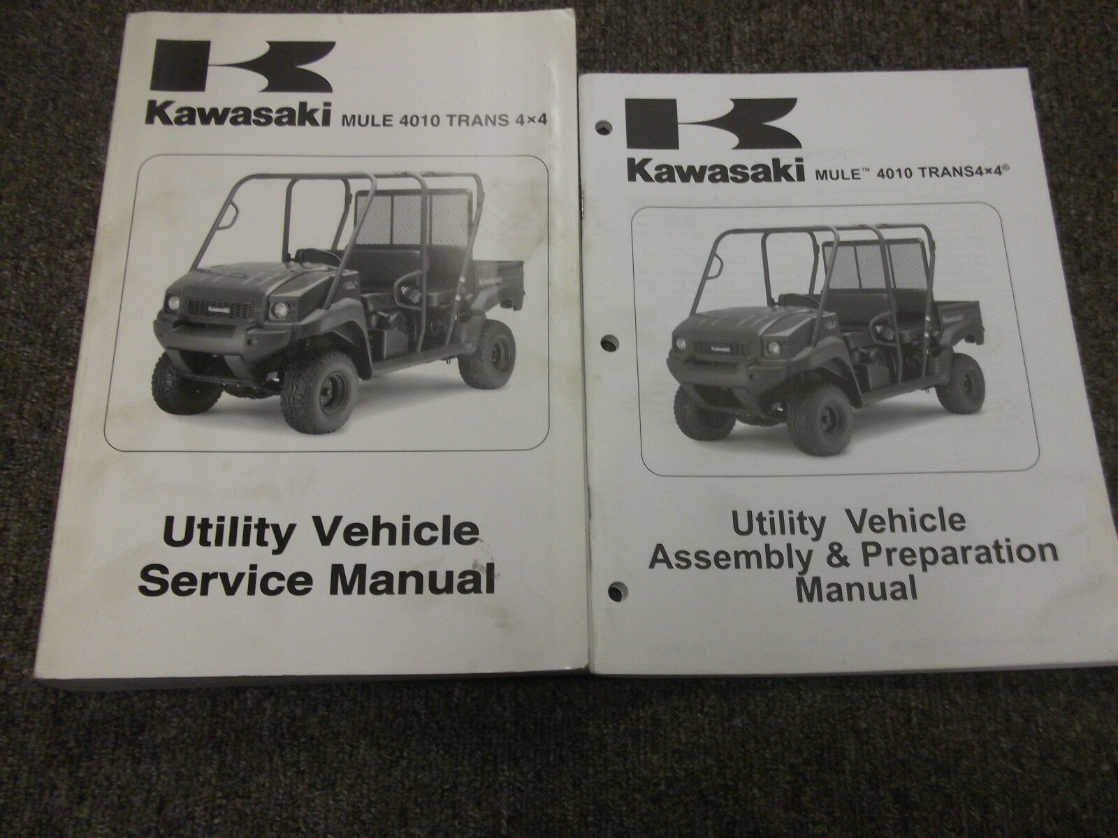 2009 Kawasaki Mule 4010 Trans 4x4 Diesel Utility Service Repair Shop 3010 Snow Plow Wiring Diagram Manual Set 1 Of 9only Available