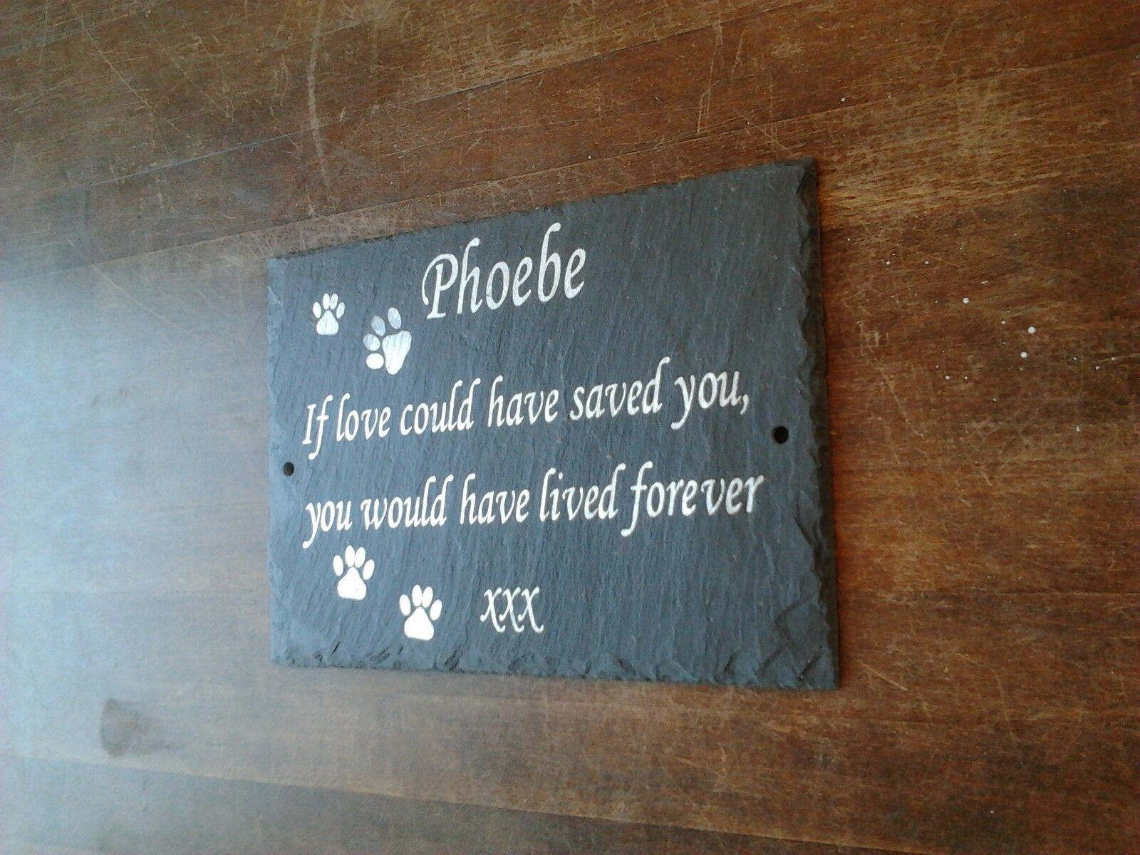 Pet Memorial Slate Plaque Personalised for your Dearly Missed Pet Dog, Cat, Pets