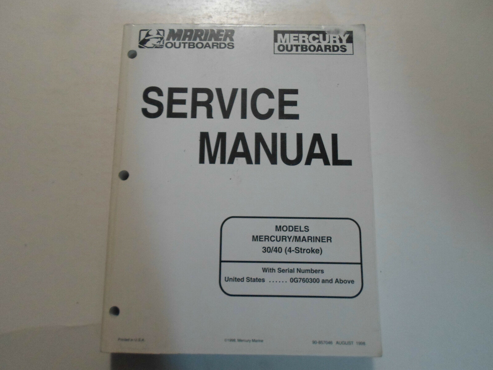 1999 Mercury Mariner 30/40 4 Stroke Service Repair Shop Manual FACTORY OEM  99 1 of 5Only 1 available ...