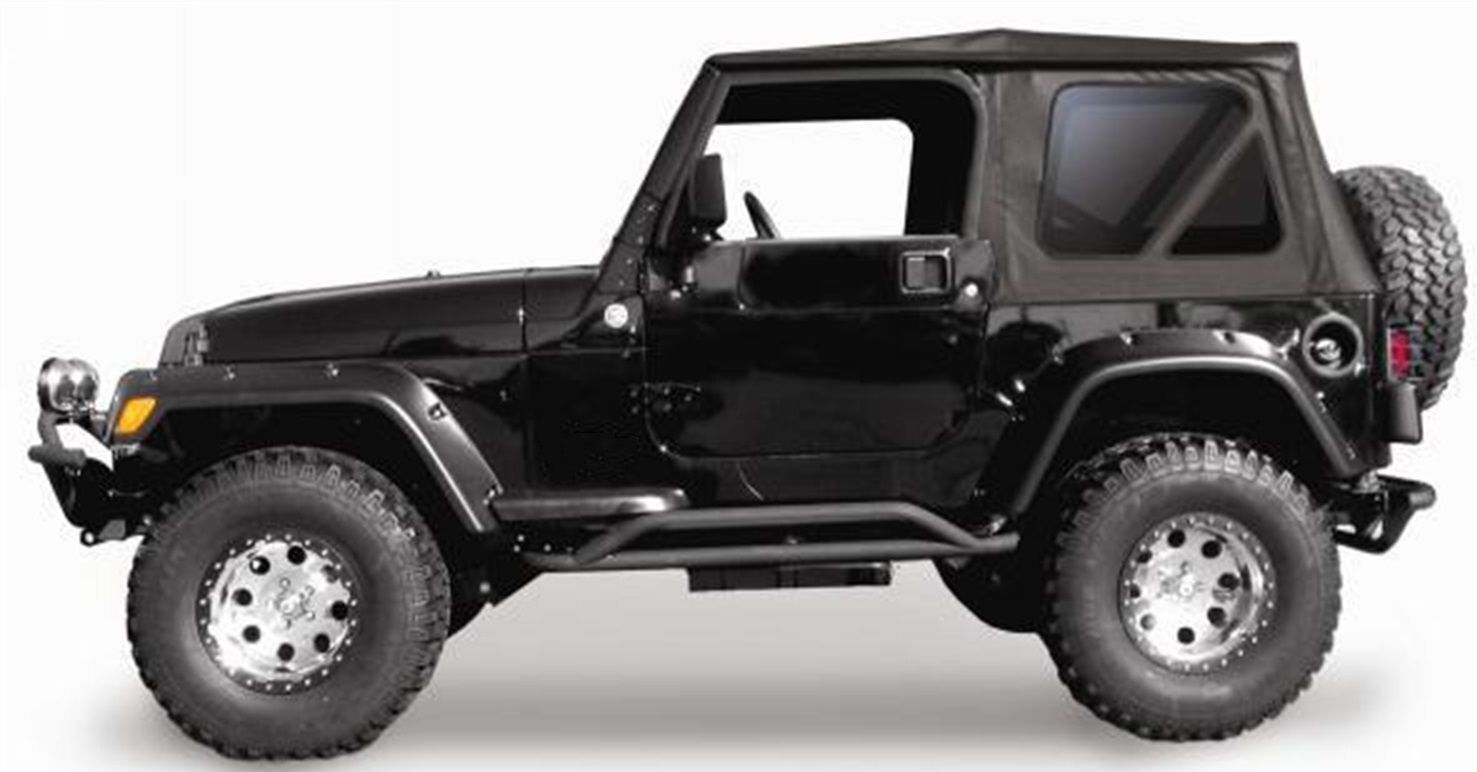 new jeep wrangler soft top 1997 2006 black tinted fits. Black Bedroom Furniture Sets. Home Design Ideas