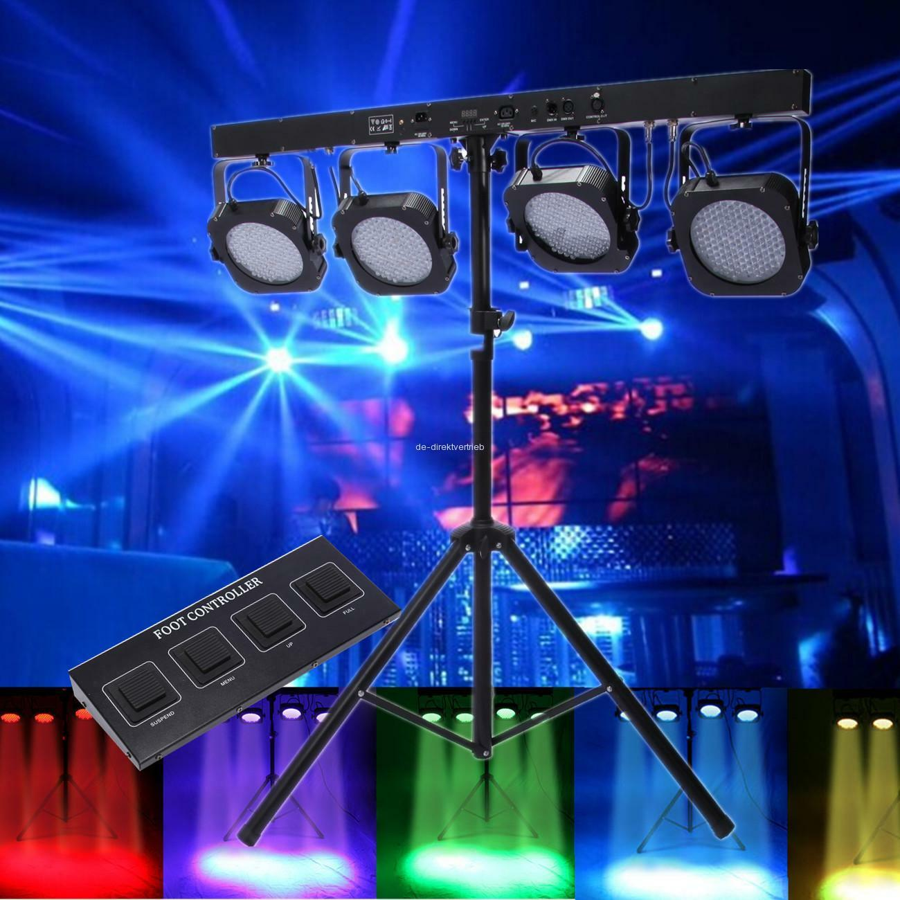 Mini 4 Bar Led Rgb Par Can Stage Wash Tripod Light Dmx Laser Multicolor Projector Ampamp Blue 1 Of 12only 0 Available