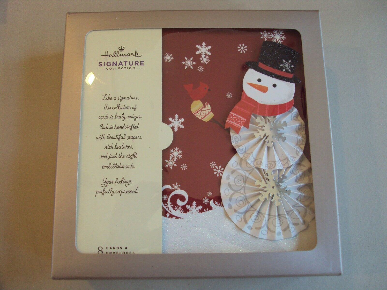 New Hallmark Boxed Lot Of 8 Christmas Cards NIB Signature Collection ...