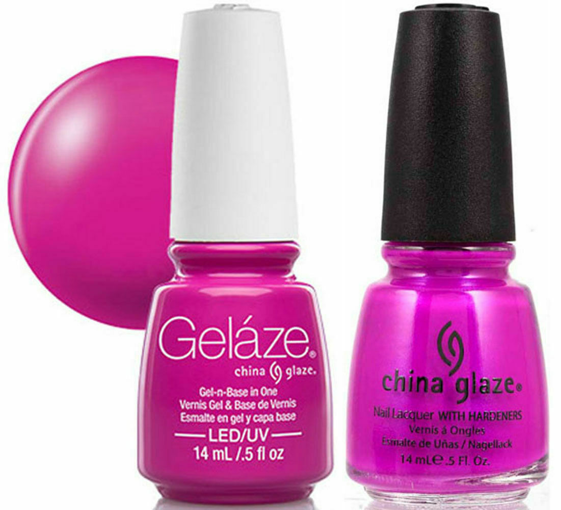 Gelaze By China Glaze Gel Polish Nail Lacquer Purple Panic 81644 70290 1 Of 2 See More