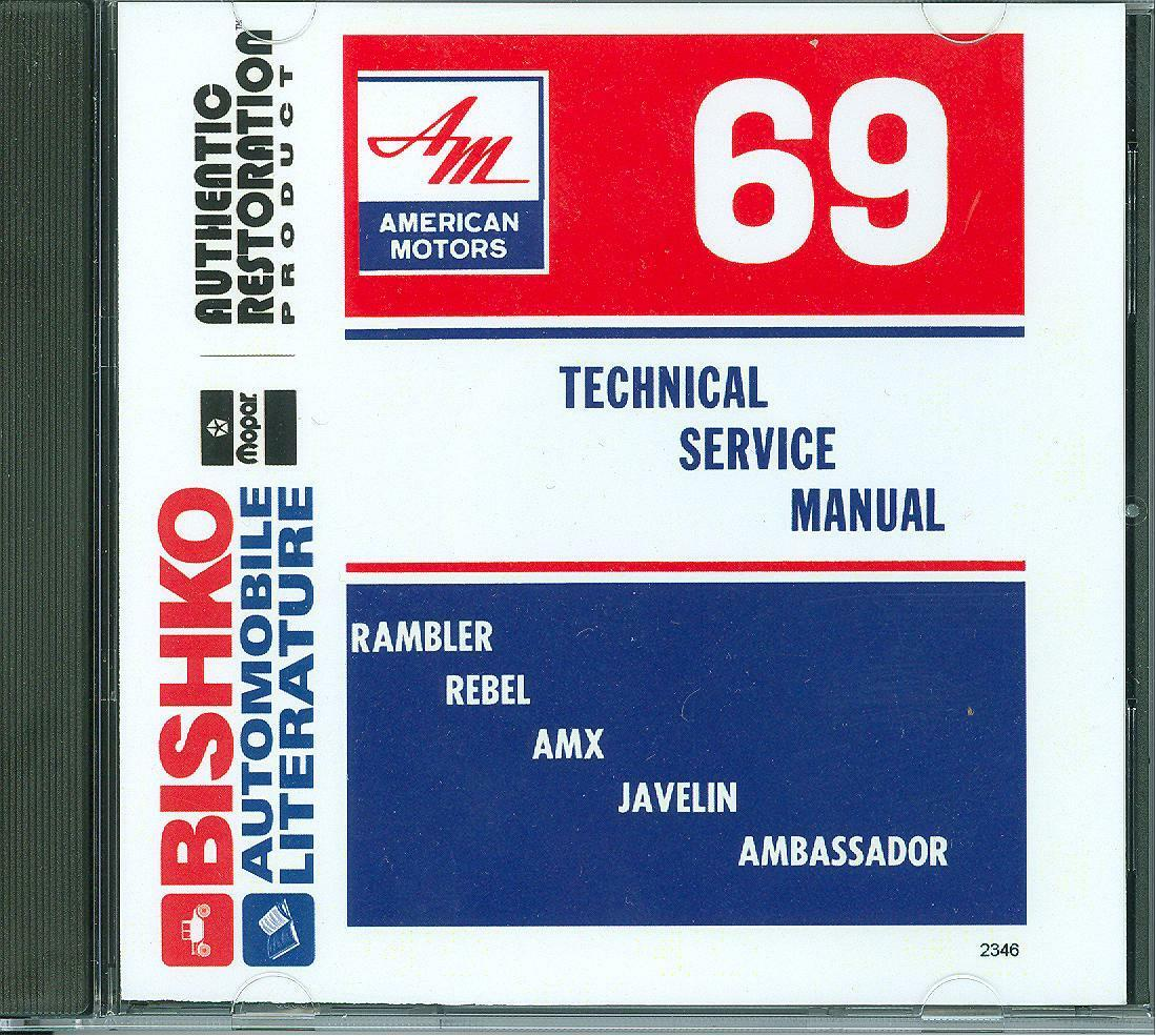 1969 Amc Amx Javelin Rebel Rambler Ambassador Shop Manual On Cd 1968 Tachometer Wiring Diagram 1 Of 1only 3 Available